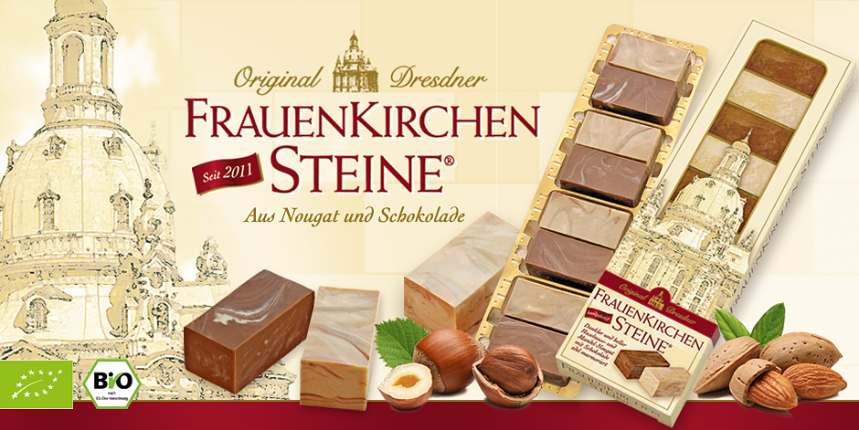 Die Sandsteine der Dresdner Frauenkirche aus Nougat und Schokolade